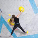 Boulder Nummer 1 der Damen bei der Simulation in der Boulderwelt München OSt